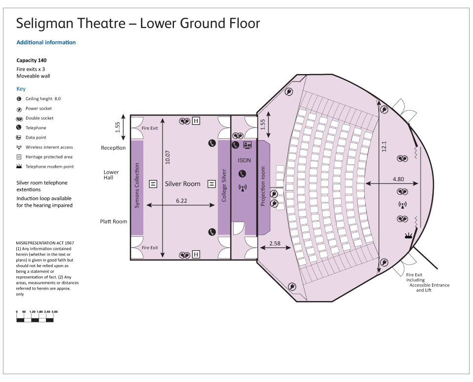 Seligman Theatre floor plan