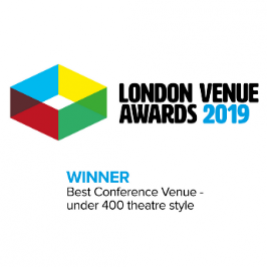 London Vemue Awards 2019 - Best Conference Venue - Under 400 Theatre Style